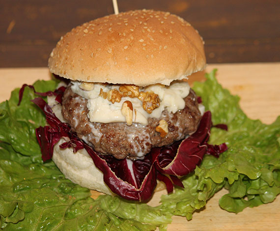 Bourger gorgonzola e noci